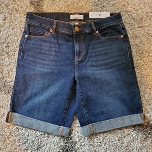 NWT LOFT Denim Bermuda Shorts